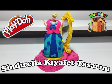Play-doh Oyun Hamuru Ile Sinderella Kıyafet Tasarım I Oyun Hamuru Ile Barbie Bebek Giydirme video
