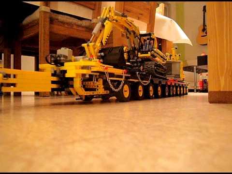 lego technic camion 8258 remorque youtube. Black Bedroom Furniture Sets. Home Design Ideas