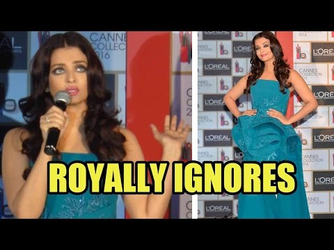 Aishwarya Rai Bachchan ROYALLY IGNORES Answering A Question Related To Her Beauty!