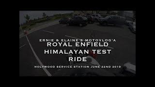 Royal Enfield Himalayan Test Ride 22nd June 2019