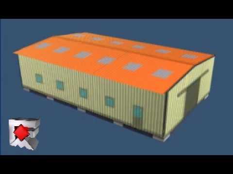 Montage d 39 un b timent galco youtube for Plan pour construire un poulailler industriel