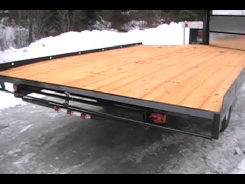 TREKK 2 Place Snowmobile Trailer Basic YouTube