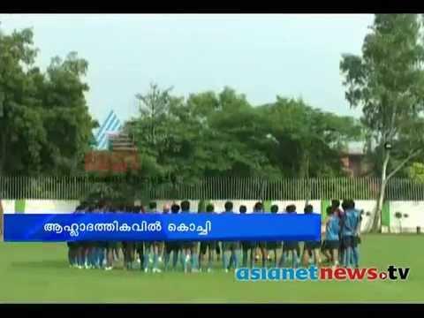 Sachin Tendulkar, the Kochi football team owner ആഹ്ലാദത്തികവില് കൊച്ചി