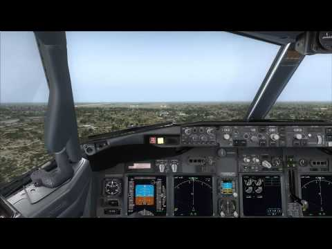Cockpit Tiger Airways 737-800 NG approaching Jakarta