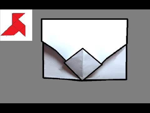 Как сделать оригами КОНВЕРТ С ЗАСТЕЖКОЙ из бумаги А4, своими руками?