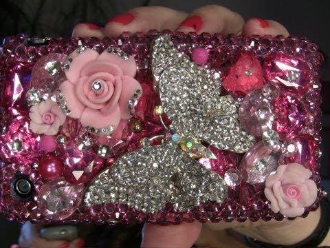 Estuches para celulares con cristales de swarovski how for Cristales swarovski para decorar unas