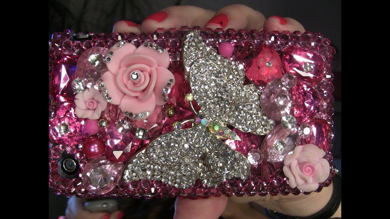 Estuches para celulares con cristales de swarovski youtube for Cristales swarovski para decorar unas