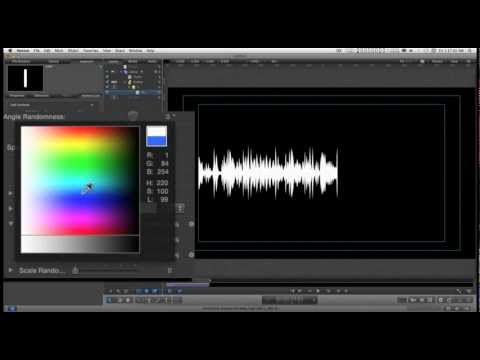 Tutorial: How To Create Animated Audio Waveforms with Apple Motion