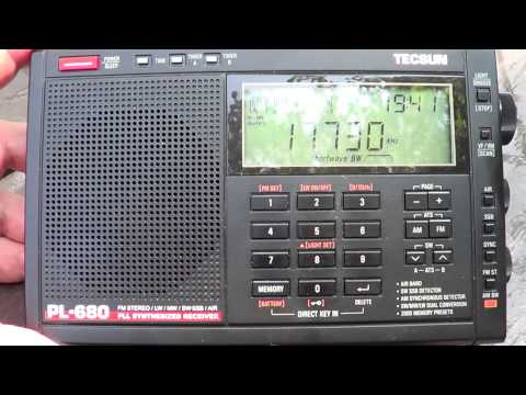 Radio Habana Cuba french 17730 hz Shortwave on Tecsun PL 680 receiver