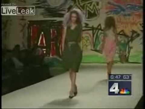 Model Catwalk Model Falls Twice on Catwalk