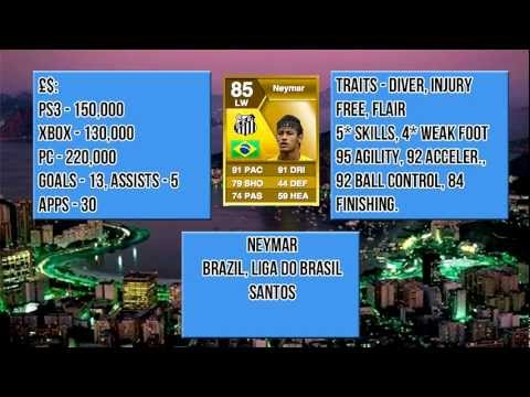 My favourite player in FIFA 13 ultimate team so far - Neymar player review including in game stats