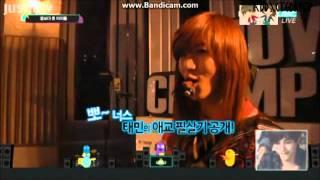 [120424] Kai's reaction to Taemin aegyo (CUT)