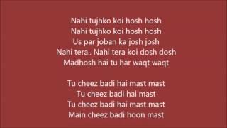 download lagu Tu Cheez Badi Hai Mast  – Machine  gratis