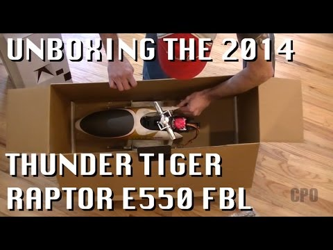 Unboxing the 2014 Thunder Tiger Raptor E550 FBL ARF Heli