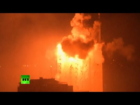 Gaza Bombing: Massive explosion as Israeli strikes hit media building