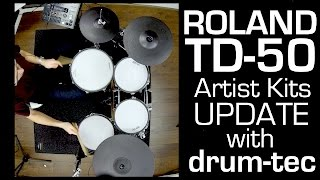 Roland TD-50 new Artist Kits update: 25 NEW kits (+15 remixed/edited)