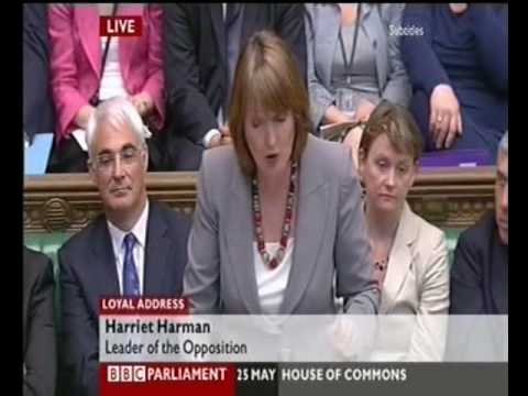 Queens Speech Debate Harriet Harman Humiliates David Cameron 2010