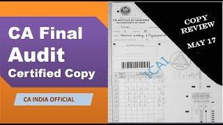 AUDIT CERTIFIED COPY REVIEW | CA INDIA | CA/CS/CMA