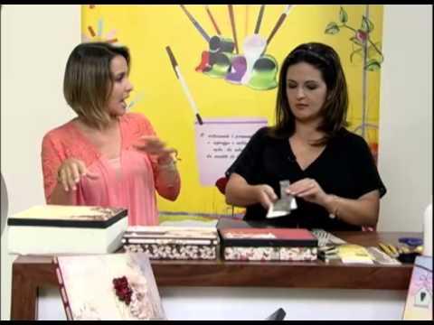 Mulher.com 11/01/2013 Marisa Magalhães - Forração de caixas com papéis decorativos de scrap 1/2