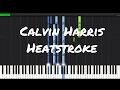 Calvin Harris - Heatstroke Piano Tutorial ft. Young Thug, Pharrell & Ariana Grande