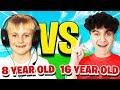 16 YEAR OLD vs 8 YEAR OLD (Fortnite 1v1)