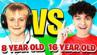 16 YEAR OLD vs 8 YEAR OLD (Fortnite 1v1)