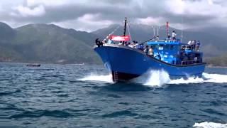 Chạy thử tàu cá Việt Anh - Ninh Thuận (Đóng tại UNINSHIP)