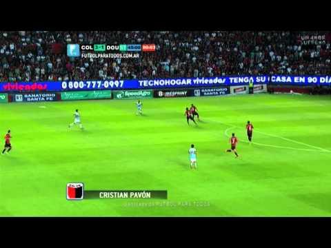 Gol de Pavón. Colón 3 - Douglas Haig 1. Fecha 10. Torneo Primera División 2014. FPT.