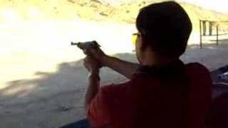 Firing the WWII German P38 pistol - 9mm ammo.