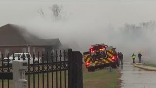 RAW VIDEO: Husband, wife escape house fire after apparent lightning strike