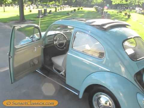 1962 Vw Beetle For Sale With Ragtop Sunroof Youtube