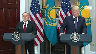 President Trump Participates in Joint Press Statements with President Nursultan Nazarbayev