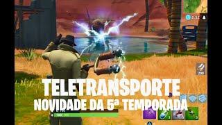 Como usar o Portal Teletransporte Temporada 5 Fortnite Battle Royale (New portal Season 5)