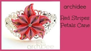 Tutorial | Polymer Clay | Red Stripes Petals Millefiori Cane | Murrina | DIY
