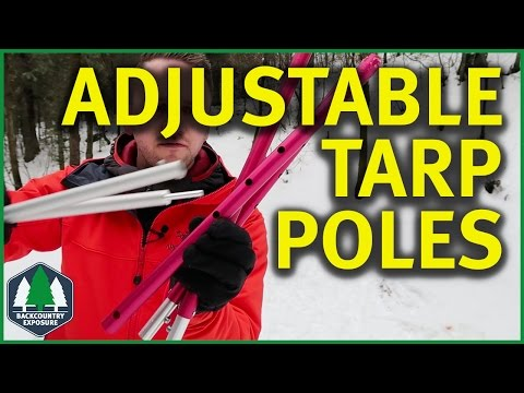 Adjustable Tarp Poles - Paria Outdoor Products   Endless Options