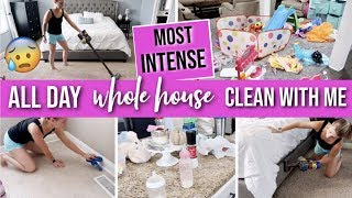 *INTENSE* WHOLE HOUSE CLEAN WITH ME 2019 | ALL DAY CLEANING | EXTREME CLEANING MOTIVATION