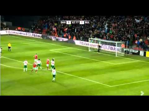 Daniel Agger penalty against Bulgaria 26/03/13