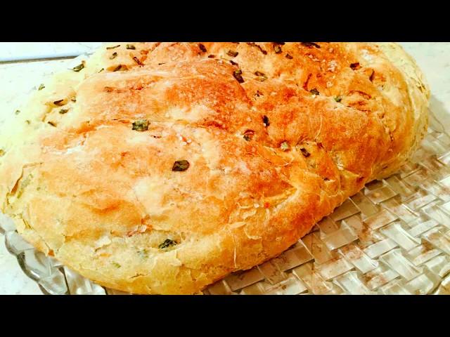 Домашний луковый хлеб // Homemade bread