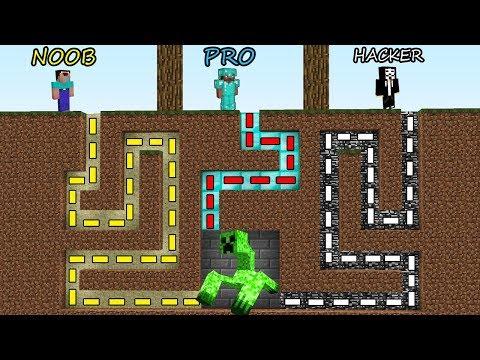 Minecraft Battle: NOOB vs PRO vs HACKER: SURVIVAL IN CREEPER MUTANT MAZE in Minecraft MAP!