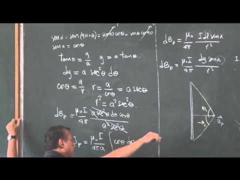 Clase 78: Fuentes de campo magnético;  Biot y Savart.