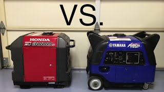 Honda EU3000is vs Yamaha EF3000iSEB sound comparison