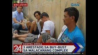 24 Oras: 3 arestado sa buy-bust sa Malacañang Complex
