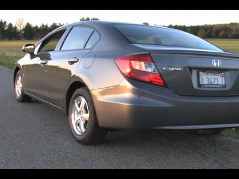 2012 Honda Civic Natural Gas CNG Review / Test Drive = MPGomatic