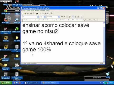 ensinando a como colocar save game no need for speed underground 2