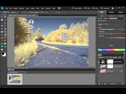 How to process a false color infrared photo