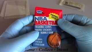NBA Fleer 1986-87 Wax pack opened on Openboosters