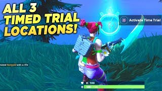 """ALL 3 TIMED TRIAL LOCATIONS! """"Complete Timed Trials"""" Fortnite Week 3 Season 6 Challenge Guide!"""