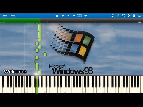 WINDOWS 98 SOUNDS IN SYNTHESIA
