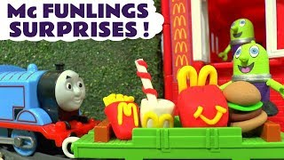 Funny Funlings McDonald's Drive Thru Happy Meal Surprise with Thomas The Train and Cars McQueen TT4U