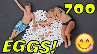 "700K CELEBRATION ""EGGS ON TRAMPOLINE"""